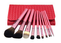 10 Pcs Pink Nylon Hair Professional Makeup Brushes Set For Beginners