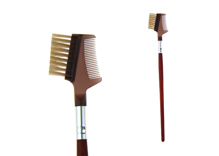 Comb Eye Brow Brush Set Promotion Bristle Hair 110mm Long Handle