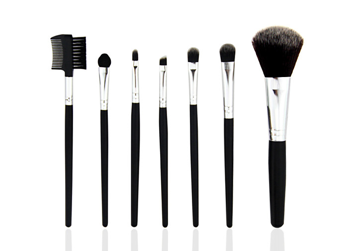 Mineral Makeup Brush Set 200g Red PU Leather Bag Copper Ferrule