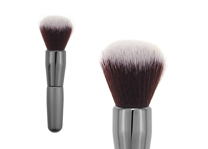 Professional Goat Hair Tapered Retractable Blush Brush For Contouring Face