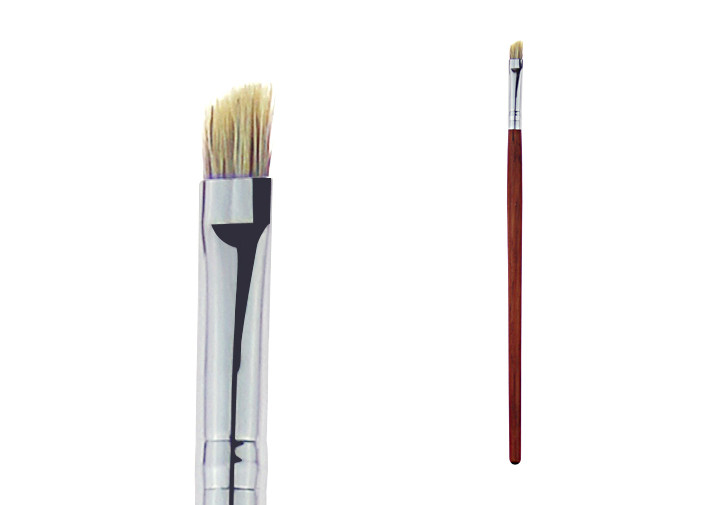 Small Eye Brow Brush Red Wooden Handle Sliver Aluminum Ferruel Convenient