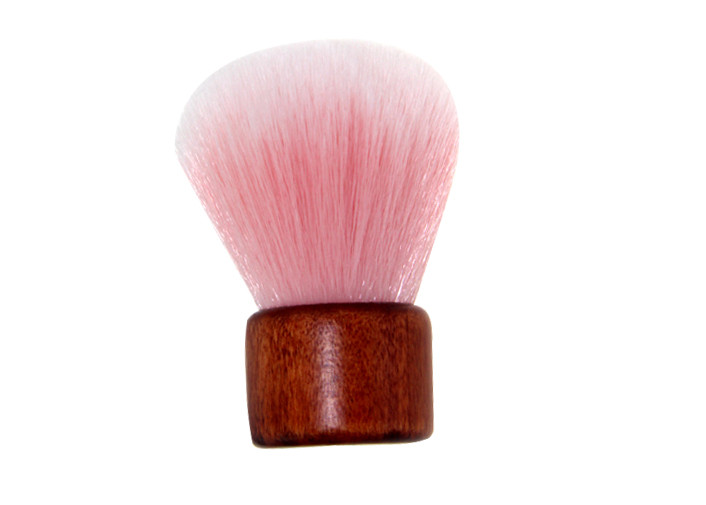 Shorted Wooden Handle Kabuki Foundation Brush Pink PVC Box 56mm Length