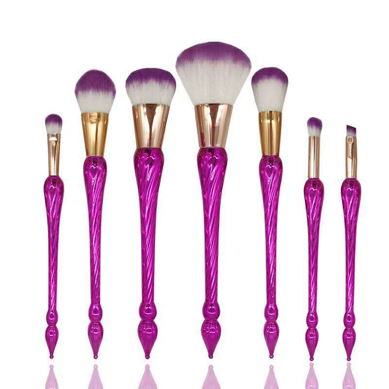Promotion Private Label Best Quality 7Pcs Synthetic Hair Makeup Brushes Free Sample