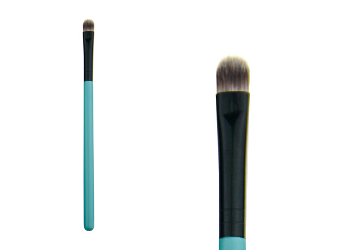 Soft Green Eyeshadow Blending Brush Pro Makeup Brushes With Wooden Handle