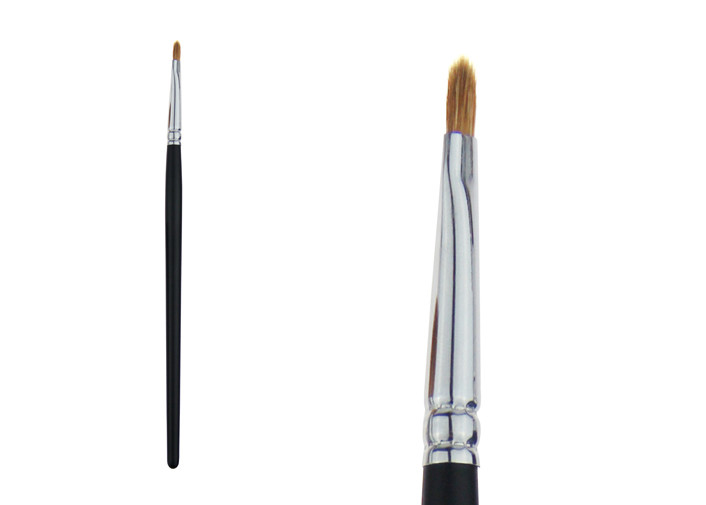 Portable Black Lip Liner Brush Cosmetic Makeup Brushes With Wooden Handle