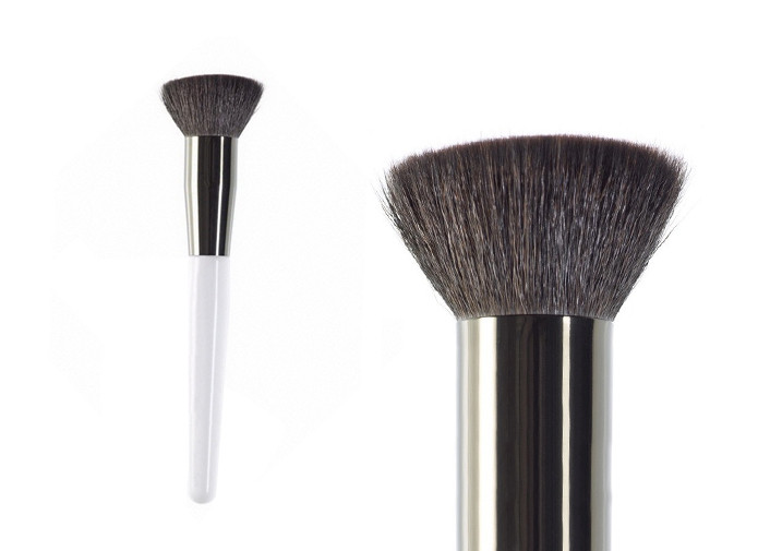 Travel Goat Hair Flat Top Buffer Brush Power Foundation Makeup Brushes