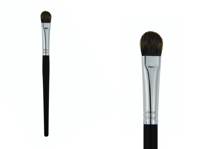 Black Professional Synthetic Hair Makeup Brushes / Flat Top Concealer Brush